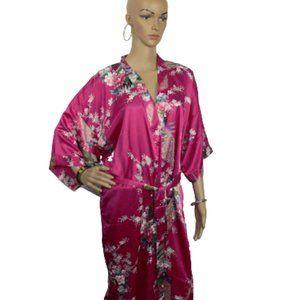 Long Silk Robe Size L